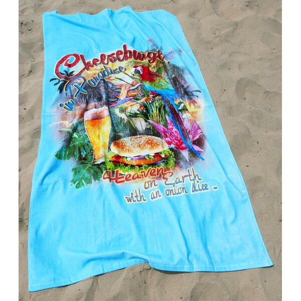 Cheeseburger in Paradise 100% Cotton Beach Towel by Margaritaville